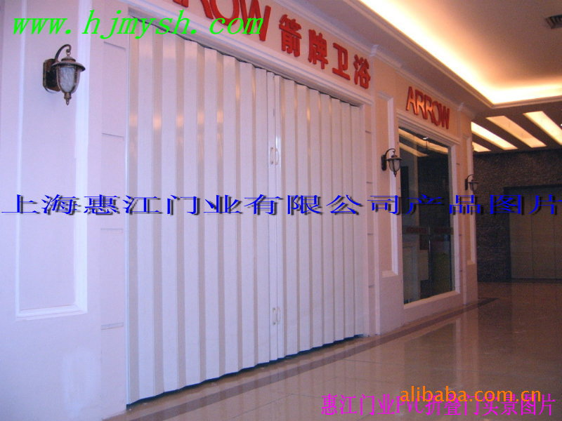 商铺PVC折叠门 商场店铺防盗折叠门