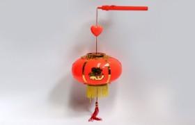 手提儿童特大红灯笼 传统中秋喜庆LED小宫灯 灯光音乐灯笼