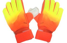 新款足球守門員手套 漸變色乳膠手套 帶護指