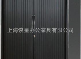 上海简约钢制卷帘门文件柜 高740mm黑色卷帘门柜 加厚卷门柜