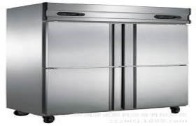 厨房工程--商用厨房设备--【金菱】铜管(暗管)四门双机双温冷柜
