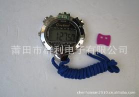 不锈钢电子秒表 七彩背光 高档电子停表 计时秒表 大屏显示秒表