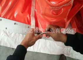 厂家直销热卖湖南柳州南昌用围油栏 橡胶PVC充气浮子式围油栏