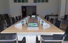 华会通无纸化智能会议15.6寸双面台面式系统