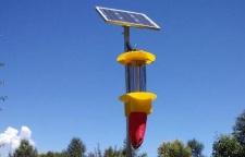 云飞太阳能杀虫灯为临潼石榴园绿色生产保驾护航