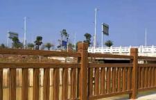 广东清远连州市水泥仿木栏杆让结构与建筑变得更加统一协调