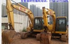 东莞南城挖掘机培训考证学校,成才包你学会为止