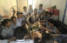 月圆中秋,辉洋物业驻中行广州分行疗养院全体保洁员共度佳节