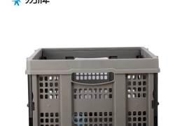 廠家供應Y-02超市購物塑膠籃收納菜籃折疊貨物籃全新料結實耐用