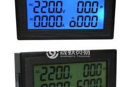 液晶數顯電能表110V220V380V電壓電流功率計頻率功率因數儀表20A