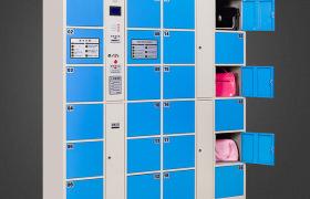 咸阳超市电子存包柜 图书馆 影院 24门寄存柜 条码柜 刷卡柜