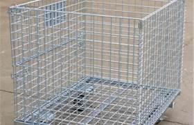 倉儲籠折疊式大鐵框蝴蝶籠物流臺車