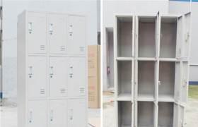 铁皮柜员工宿舍更衣存包柜12门九门更衣储物柜浴场柜厂家直销