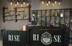 工業風鐵藝便利店收銀臺咖啡餐廳接待臺