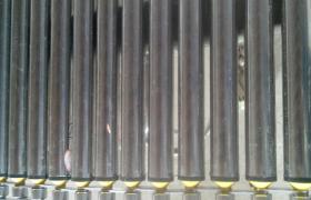 火腿罐头巴士杀菌机不锈钢滚杠式网带