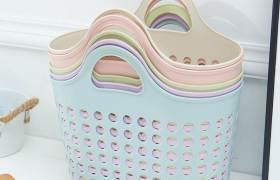 广华塑料手提篮洗浴用品收纳篮