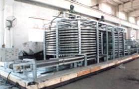 速凍丸類螺旋式速凍機生產線