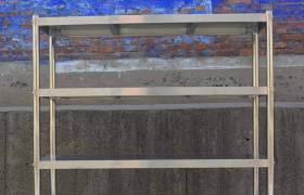 批发不锈钢货架厨房置物架四层五层展示储物架304不锈钢货架定制