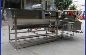 蔬菜清洗機_凈菜加工大型果蔬清洗瀝水機_渦流洗菜機廠家