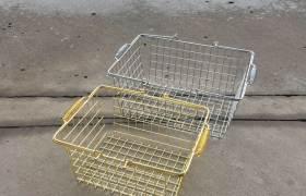 超市購物籃精品金屬鐵絲籃小號化妝品店圍布購物籃屈臣款上海直銷