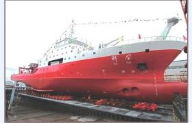 船舶下水斜架车同步平衡控制系统