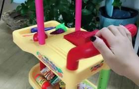 仿真水果蔬菜超市购物车套装儿童扮演过家家手推车收银机儿童玩具