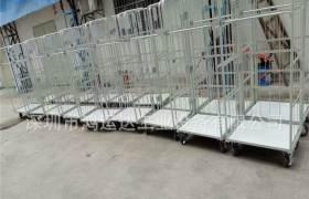 定做倉儲周轉車快遞分揀車折疊式鐵框倉庫籠移動鍍鋅物流臺車