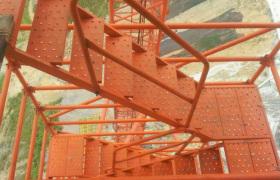 廠家直銷安全爬梯盤扣式安全爬梯建筑施工安全爬梯定制加工