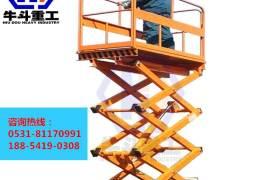 牛斗重工直銷12米300公斤移動式升降平機路燈維護高空作業車