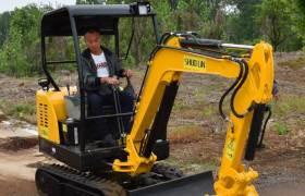 農用小型挖掘機多功能小挖機家用園林挖溝推土機小鉤機微型小挖機