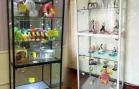 展示柜玻璃陳列柜柜臺展覽禮品成都定做精品透明手辦展示架展品柜