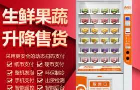 艾丰刷脸支付生鲜果蔬自动售货机无人售货机蔬菜水果智能售货机