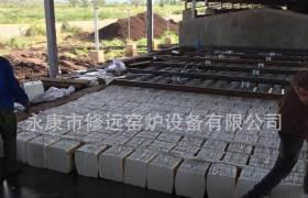 非洲粘土砖空心砖隧道窑项目吊棉中隧道窑设计承建