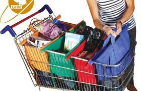 外貿出口熱銷超市手推車保溫購物袋家用購物籃子