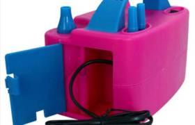 婚慶布置裝飾氣球電動打氣筒雙孔充氣泵電動充氣球機氣球配件批發