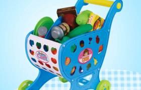 玩具购物车儿童仿真超市手推车过家家玩具赠品礼品DIY组装更益智