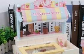 木制过家家仿真冰淇淋贩卖机女孩儿童购物车玩具超市