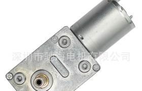 驰海电机厂家直销GW4632-370微型直流蜗轮蜗杆减速电智能门锁马达