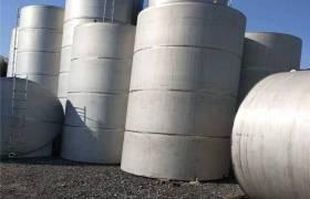 二手不銹鋼儲罐二手立式壓力罐二手50立方不銹鋼儲油罐