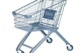 商場超市帶凳購物車金屬人字腳堅倉庫理貨揀貨車兒童塑料手推車