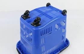 厂家供应超市购物篮购物车拉杆塑料篮手提篮便利店买菜篮带轮拉篮