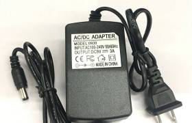 足9V3A电源适配器带指示灯开关稳压电源双线监控9v3000ma充电器