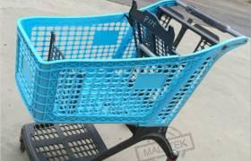 供應220L塑料手推車超市塑料購物車