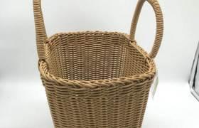 仿藤編商用購物籃水果禮品手提包裝籃子