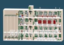 供應雙獅樓房式結構面粉加工設備
