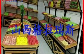 熱銷運城稷山聞喜商超貨架米面木質貨柜