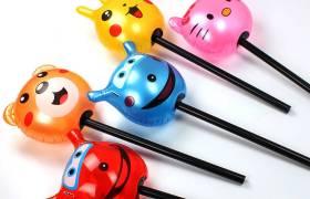 新款PVC儿童充气玩具加厚发光卡通充气锤千吨硬柄闪光锤充气玩具