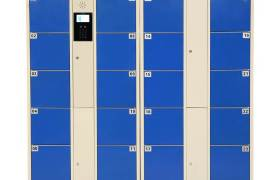 超市电子存包柜钢制储物柜条码密码指纹柜员工柜手机存放柜
